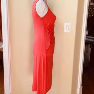 Tommy Bahama Dresses - Tommy Bahama Coral Ruched Knee Length Dress